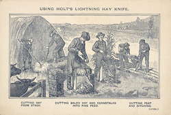 Advert For Holt's Lightning Hay Knife
